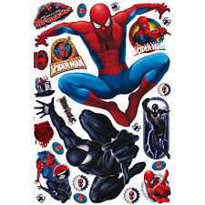 marvel spiderman multicolour self adhesive wall sticker l 1000mm marvel spiderman multicolour self adhesive wall sticker l 1000mm w 700mm departments diy at b q