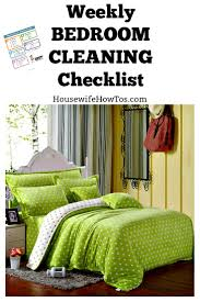 weekly bedroom cleaning checklist printable weekly bedroom cleaning checklist easy to follow this simple checklist guides you through giving