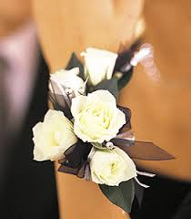 black and white corsage proms