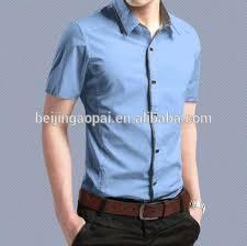 china wholesale cotton short sleeve solid designer men shirts 2017
