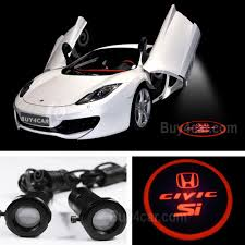 honda logo honda car symbol led ghost shadow light 3d emblems car door light for honda civic si
