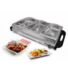 nutrichef pkbfwm33 food warming tray buffet server u0026 warmer