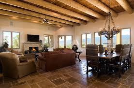 Santa Fe Style Interior Design by A New Territorial Style Home In Monte Sereno In Santa Fe Nm