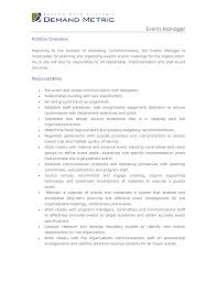 Event Manager Sample Resume by 10 Best Images Of Special Events Manager Job Description Events