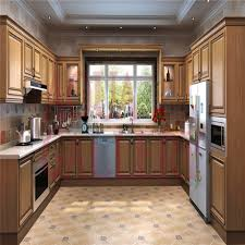 new arrival solid wood u shape modular french style kitchen