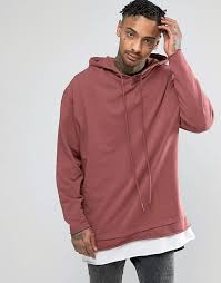 asos oversized hoodie with raw edges t shirt hem where to buy