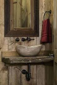 Rustic Bathroom Wall Cabinets - rustic bathroom sink hmmm jim said he wanted running water out