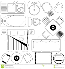 simple furniture floor plan outline stock photography image