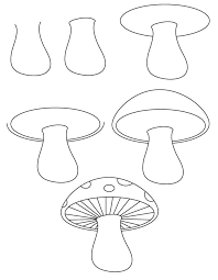 drawn fairy mushroom drawing pencil color drawn fairy