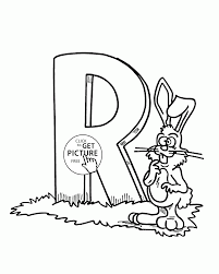 letter r alphabet coloring pages for kids abc printables free