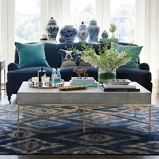 river ikat hand knotted rug blue gray williams sonoma