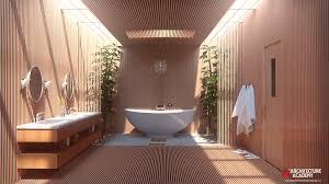 artstation modern japanese bathroom andrew price