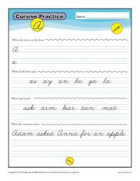 cursive letters a z free printable worksheets k12reader