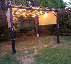 garden treasures 10 x 10 pergola gazebo with lamps ingenuity