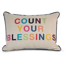 9 by Novogratz Count Your Blessings Decorative Pillow Bright
