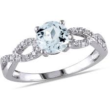 infinity engagement rings tangelo 3 4 carat t g w aquamarine and accent 10kt gold