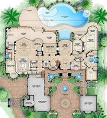 six bedroom floor plans 6 bedroom 9 bath mediterranean house plan alp 089l allplans