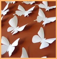 3d wall butterflies 15 butterfly silhouettes wedding