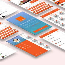 application ui design mobile chat application ui design free psd set psd