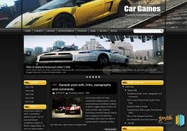 car games blogger template 2014 free download