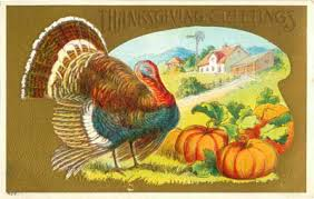 thanksgiving day vintage postcards