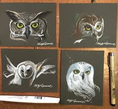 335 4 owl sketches by lucky978 on deviantart