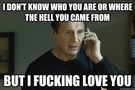 I Fucking Love You Memes - taken liam neeson memes quickmeme