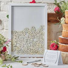 wedding book frame drop top wedding guest book alternative by