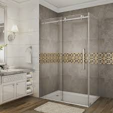 Teak Shower Mat Bathroom Curved Doorless Shower With Rain Shower And Teak Shower