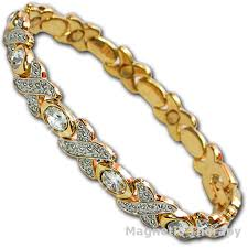 ladies magnetic bracelet images Ladies magnetic bracelets with clear crystals jpg