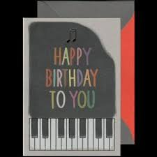 piano cards general birthday and occasion cards featuring the piano