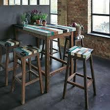 cuisine alu table alu bois trendy stilvoll table haute alinea bois