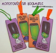 halloween bookmarks free printable monstrously fun halloween point cards and bookmarks
