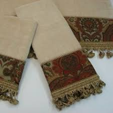Decorative Hand Towels For Powder Room - artistically decorated towels by fresco towels at horchow ooooh