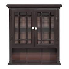 amazon com elegant home fashion neal wall cabinet with 2 door and