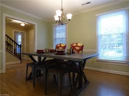 traditional dining room with crown molding u0026 chair rail in