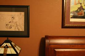 bedroom amazing brown wall paint tetured combine with frames
