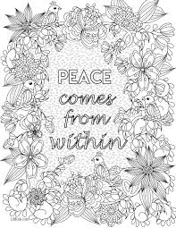 inspirational quote coloring book image from liltkids com