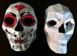 mardi gras skull mask papermau make your own werable skull mask paper model by krummrey