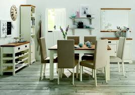 Two Tone Dining Room by Provence Two Tone 4 6 Draw Leaf Extension Dining Table U0026 4 Or 6