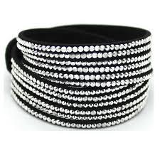 rhinestone leather wrap bracelet images Multilayer rhinestone leather wrap bracelet bangle for women jpg