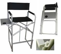 Tall Director Chairs Tall Director Chair Heavy Duty Over Size Aluminum Folding High