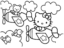 hello kitty coloring pages hello kitty in airplane hello kitty
