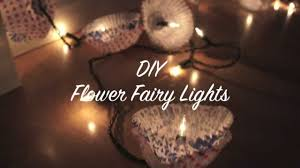 diy flower fairy lights youtube