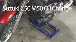 how to change the suzuki boulevard c50 m50 vl800 motorcycle oil