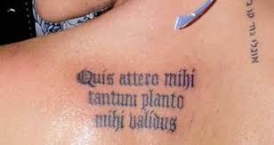 latin for tattoos