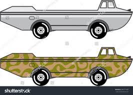 amphibious truck amphibious truck boat on wheels vector stock vector 265171709