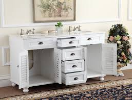 avola 78 inch double sink bathroom vanity set white finish at