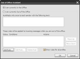 absence bureau outlook inpact créer un out of office autoreply dans outlook