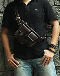 tiding s leather cool packs waist bag vintage across chest
